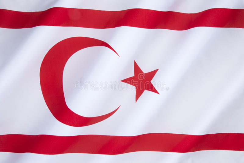 Flag of the Turkish Republic of Northern Cyprus stock image