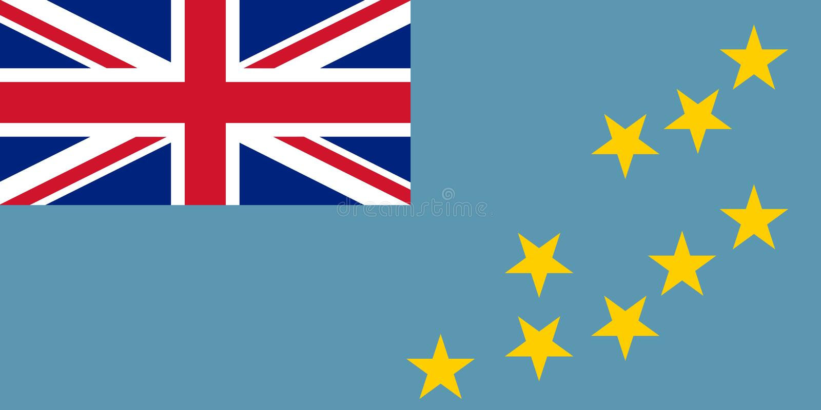 Flag of Tuvalu official colors and proportions, vector image. Flag of Tuvalu official colors and proportions, vector image vector illustration