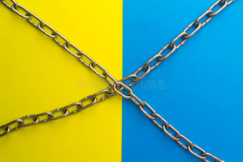 The flag of Ukraine and the lock 2 royalty free stock image