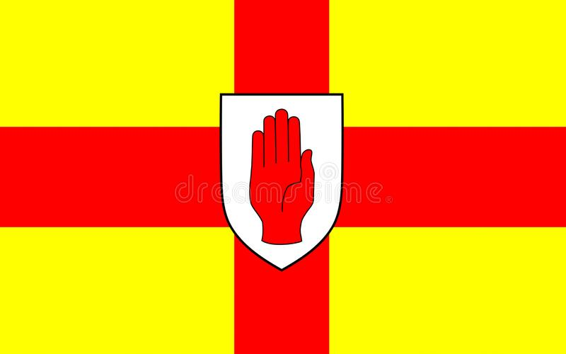 Flag of Ulster is a province in Ireland. Flag of Ulster is a province in the north of the island of Ireland royalty free illustration