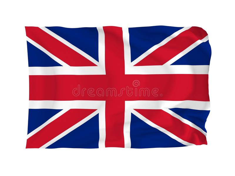 Flag of United Kingdom. United Kingdom. High resolution Flag series. With fabric texture vector illustration
