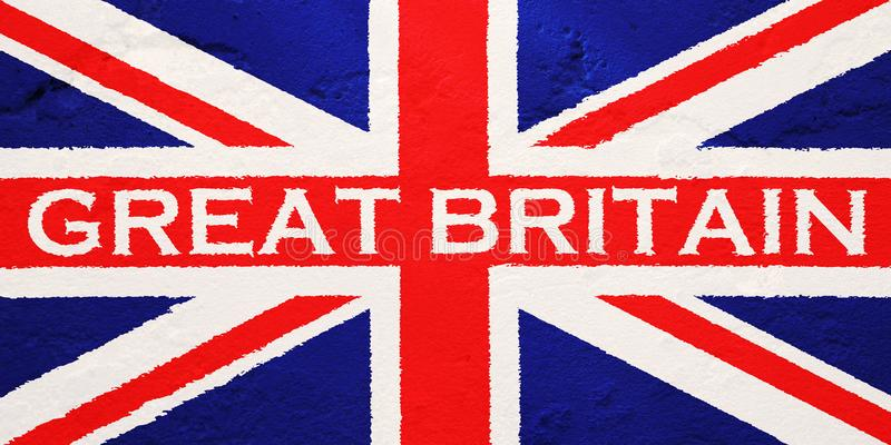 Flag of United Kingdom of Great Britain stock photography