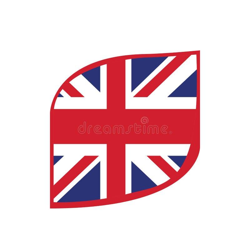 Flag of United Kingdom. Isolated flag of United Kingdom. Vector illustration design royalty free illustration