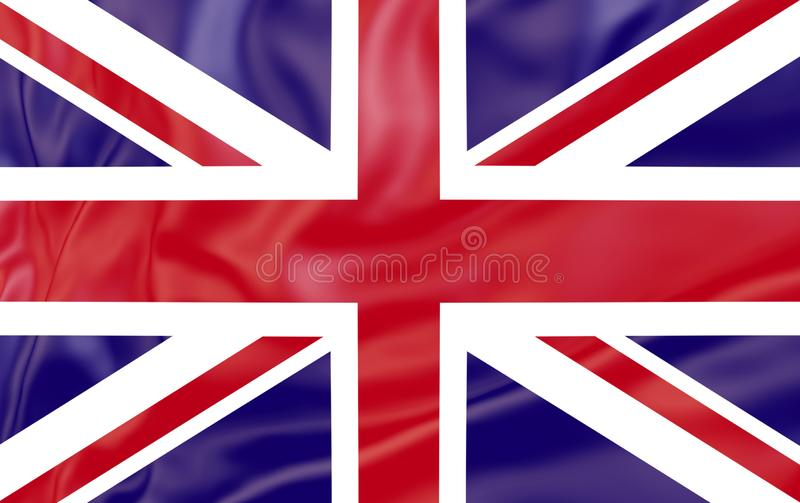 Flag of United Kingdom . Nationals flags of world country turning. Flag of United Kingdom Nationals flags of world country turning. Tourism royalty free illustration
