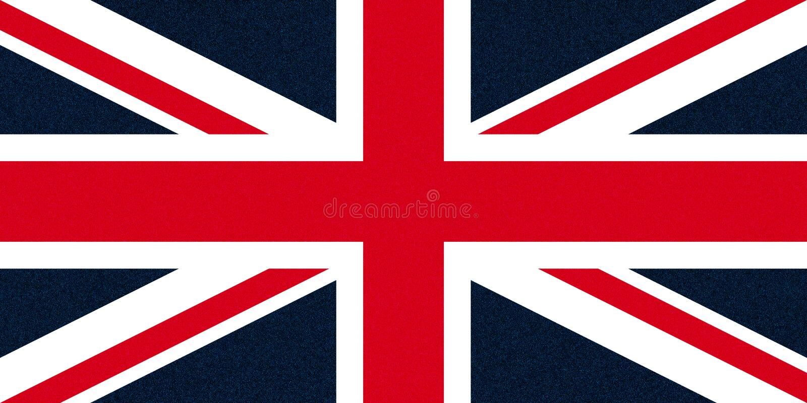 Flag of the United Kingdom (UK) aka Union Jack glittering speckles. National flag of the United Kingdom (UK) aka Union Jack with glittering light speckles - high royalty free stock photo