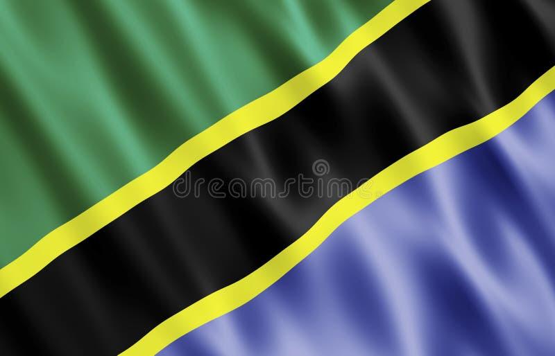 Flag Of The United Republic of Tanzania royalty free illustration