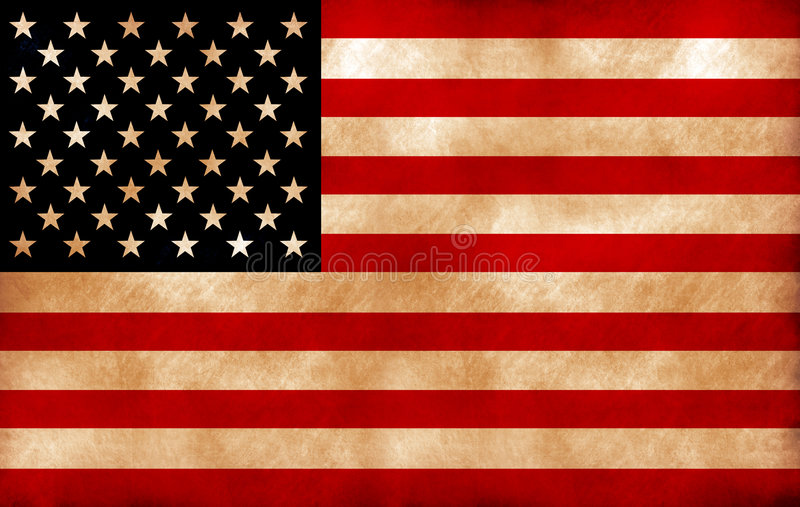 Flag of the United States royalty free illustration