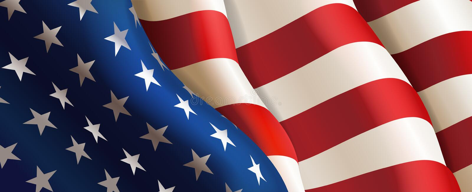 Flag United States of America. Vector royalty free illustration