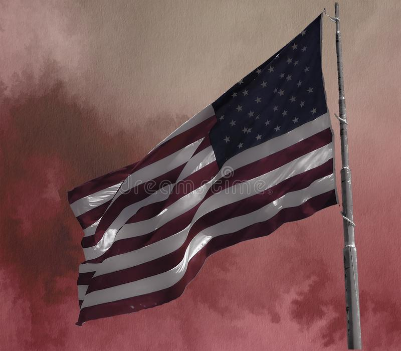 Flag, Flag Of The United States, Sky, Angle royalty free stock image