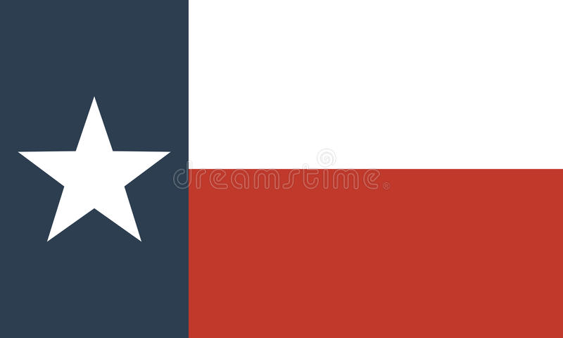 Flag of the US state of Texas. Official symbol of the state vector illustration royalty free illustration