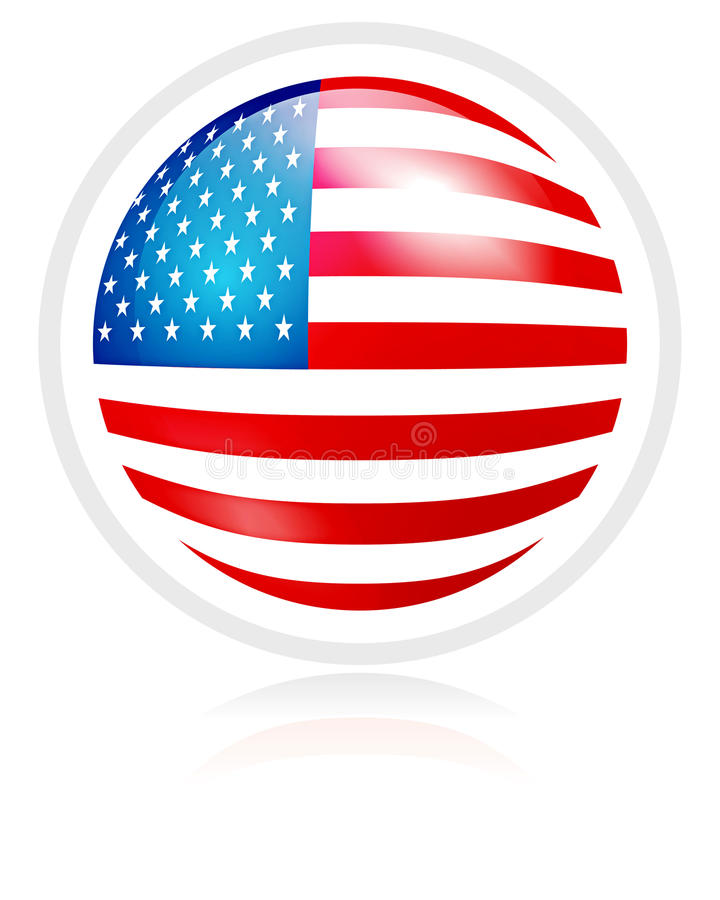 Download Flag of USA stock vector. Image of symbol, shining, union - 14681466