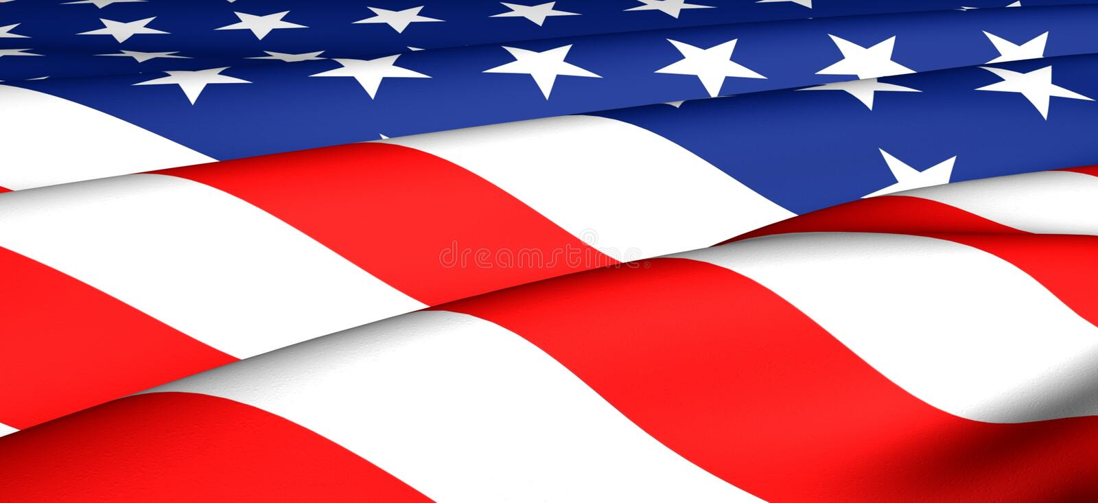 Flag of USA. Close up stock images