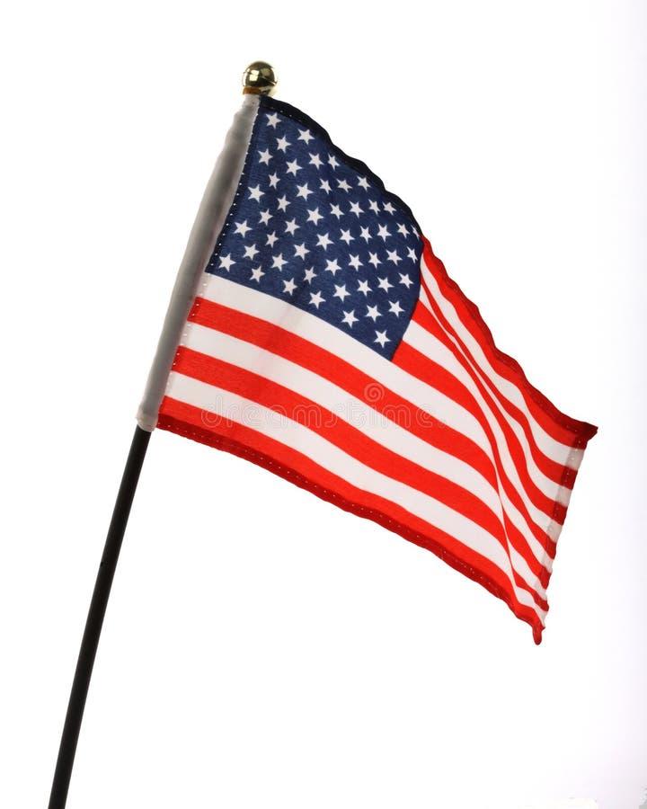Flag of USA. Over white background stock photos