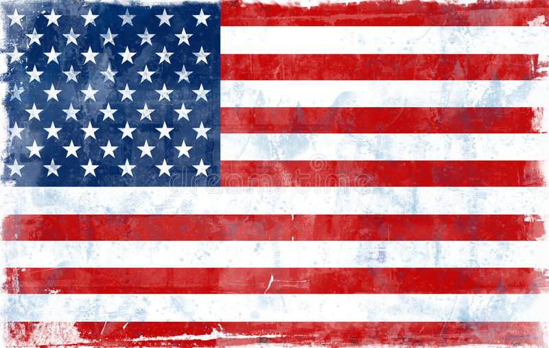 Flag of USA royalty free illustration