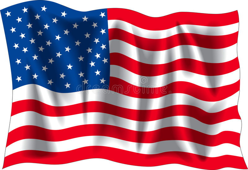flag USA vektor illustrationer