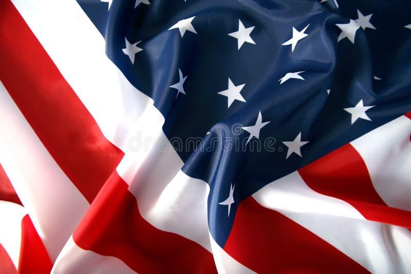 Flag USA. The flag of USA with wawe stock photography