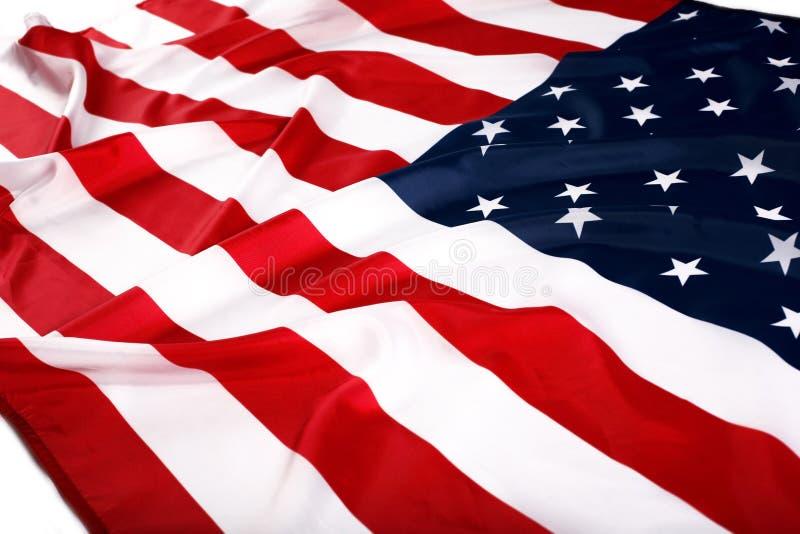 Flag USA. The flapping flag USA with wave royalty free stock image