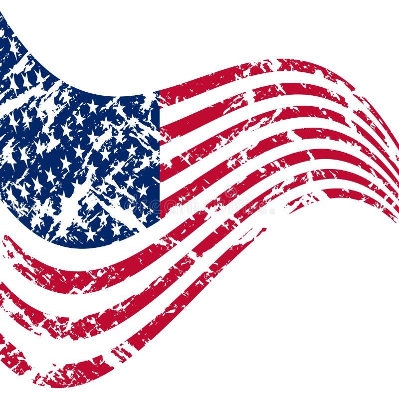 Flag Of USA royalty free illustration