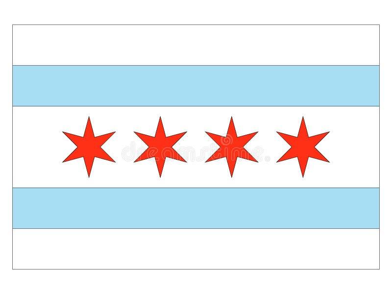 Flag of USA City of Chicago, Illinois royalty free illustration