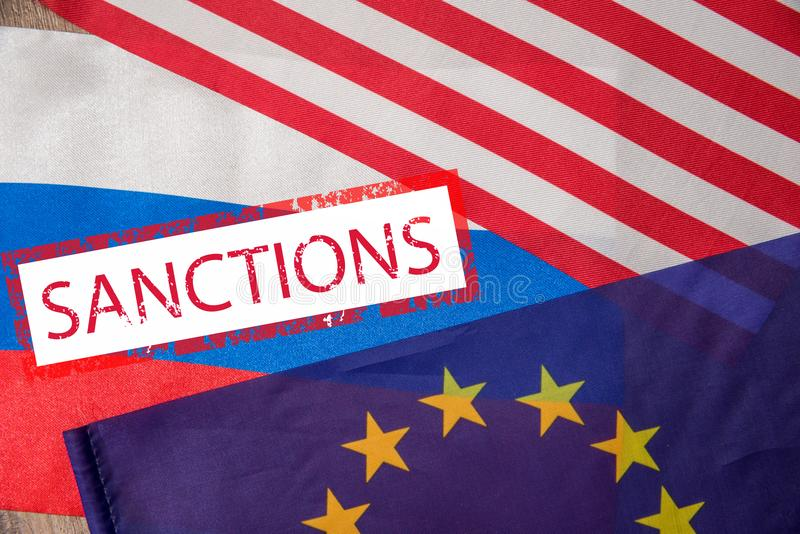 Flag of usa and europe stock photography