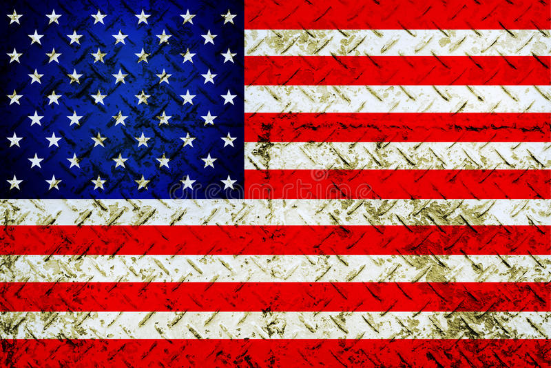 Flag of USA. Grunge flag of USA royalty free stock photo