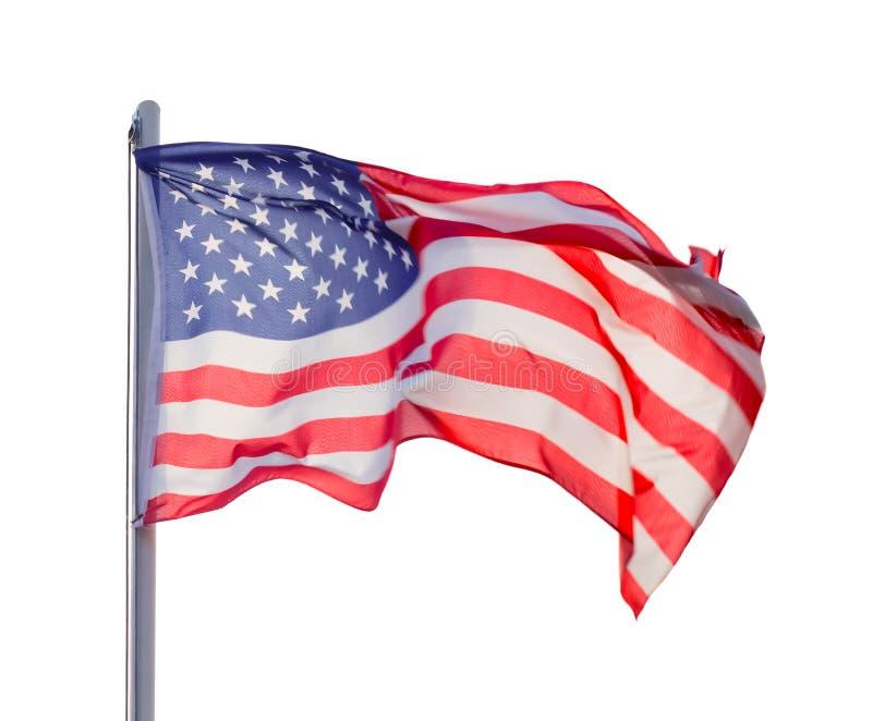 Flag USA. Isolated over white background stock images