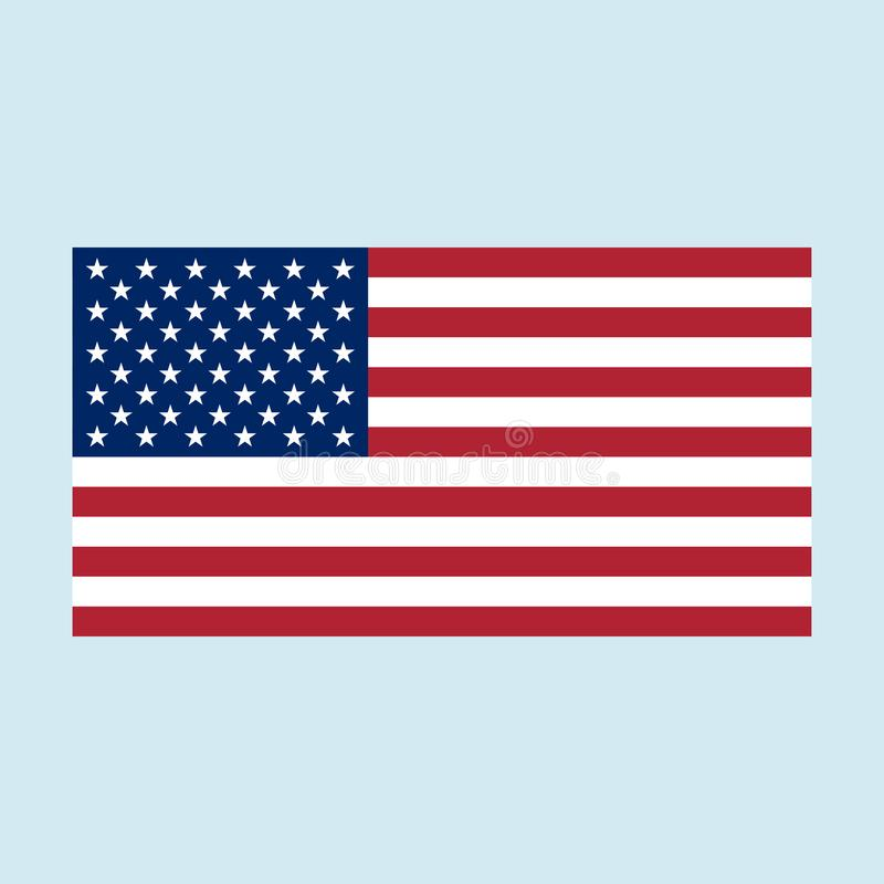 Usa flag color stock illustration