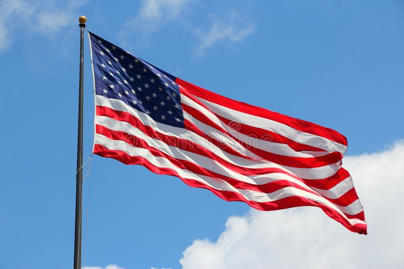 Flag of USA. Flag of the United States, famous star spangled banner stock image