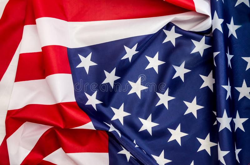 Flag USA with wave stock photo