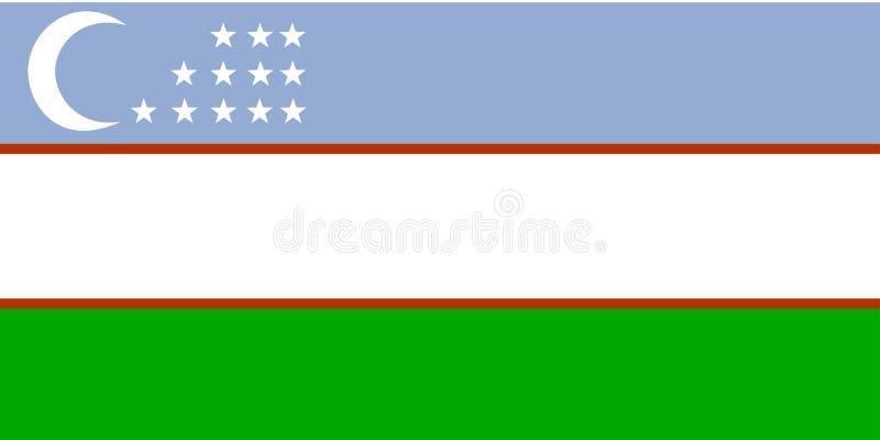 Flag of Uzbekistan stock illustration