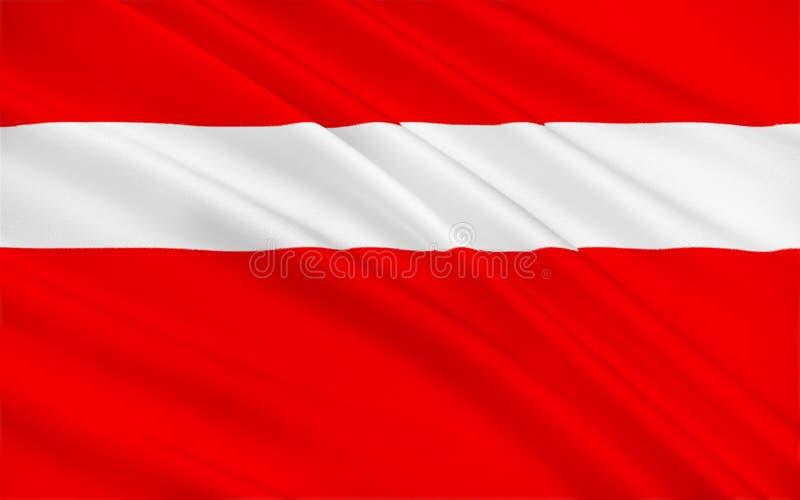 Flag of Vaduz, Liechtenstein vector illustration
