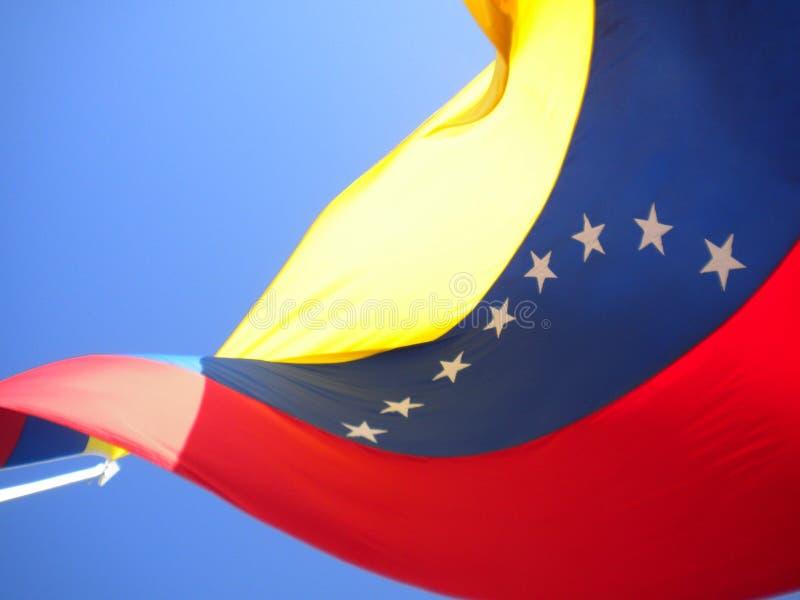 The flag of Venezuela waving royalty free stock photos