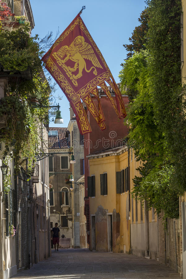 Flag of Venice - Venice - Italy stock images