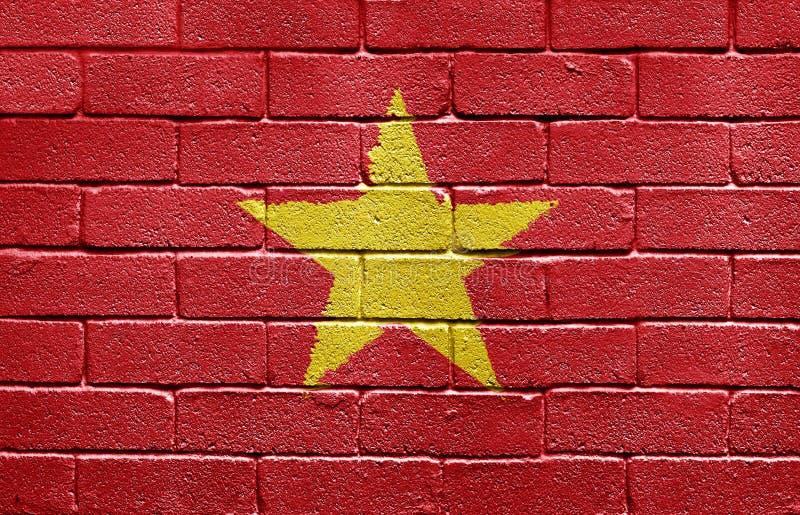 Download Flag Of Vietnam On Brick Wall Stock Illustration - Illustration: 10064010