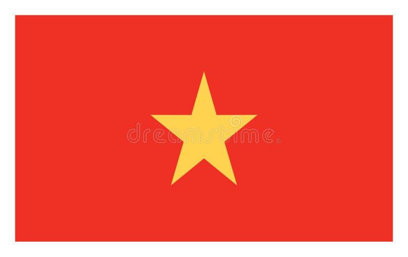 Flag of Vietnam vector. royalty free illustration