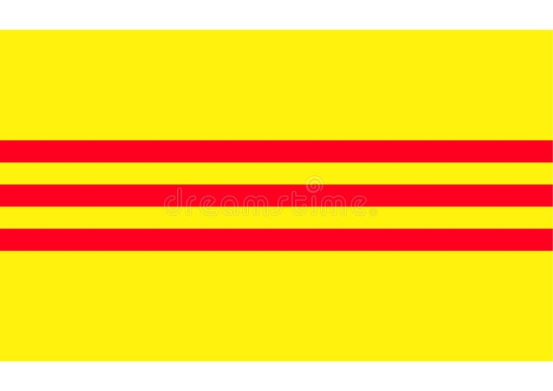 Flag of Vietnam historic. Flag of Vietnam ywllow backgroung and red stripes historic royalty free illustration
