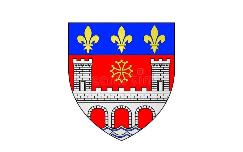 Flag of Villefranche-de-Rouergue, France. Flag of Villefranche-de-Rouergue is a commune in the Aveyron department in southern France royalty free illustration