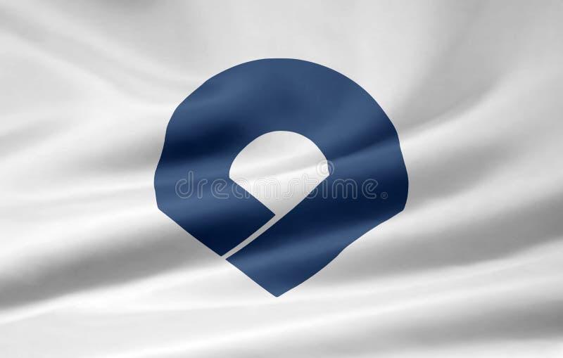 Flag of Wakayama - Japan stock photography