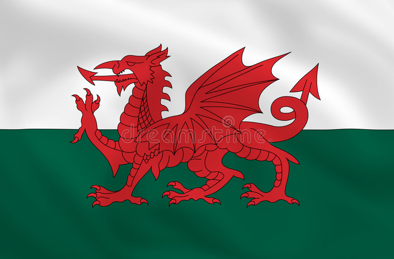 Flag of Wales royalty free illustration