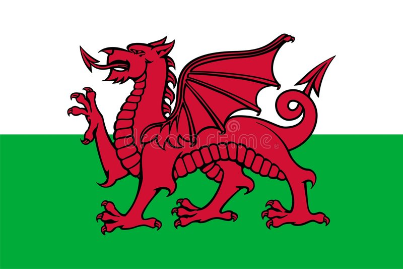 Download Flag of Wales stock illustration. Image of horizontal - 8443202