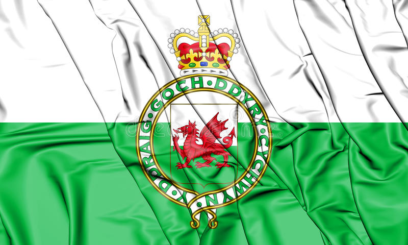 Flag of the Wales 1953-1959. 3D Illustration. vector illustration