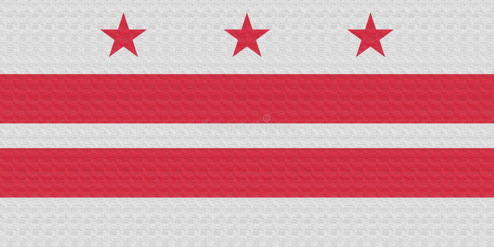 Flag of the Washington, D.C. District of Columbia, United States, USA. Flag of the District of Columbia.  stock illustration
