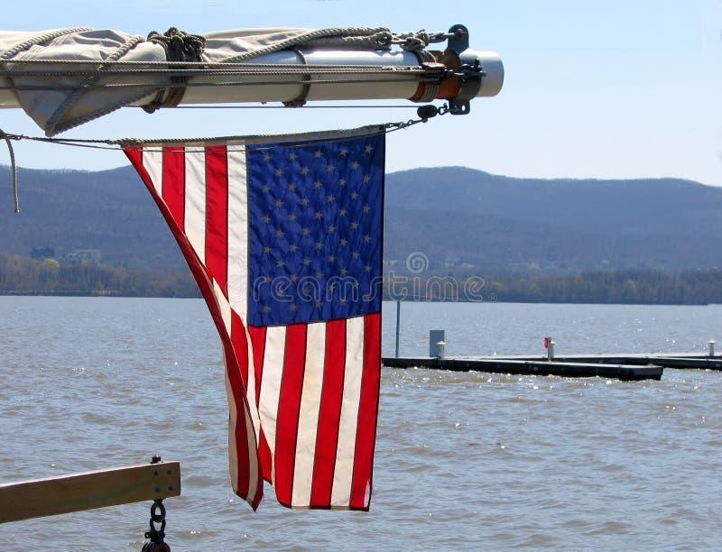 Download Flag Waving stock photo. Image of sailboat, stars, blue - 106978