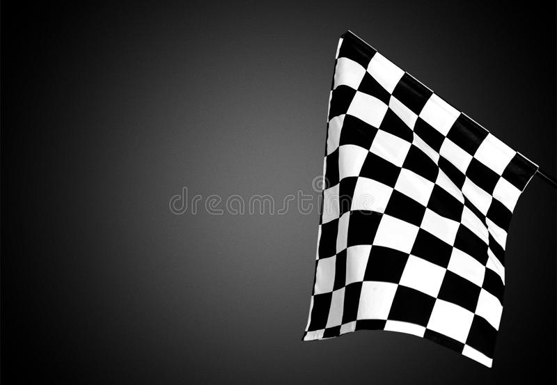 Checkered waving flag on background. Flag waving check checkered checker chequered flag car racing stock photos