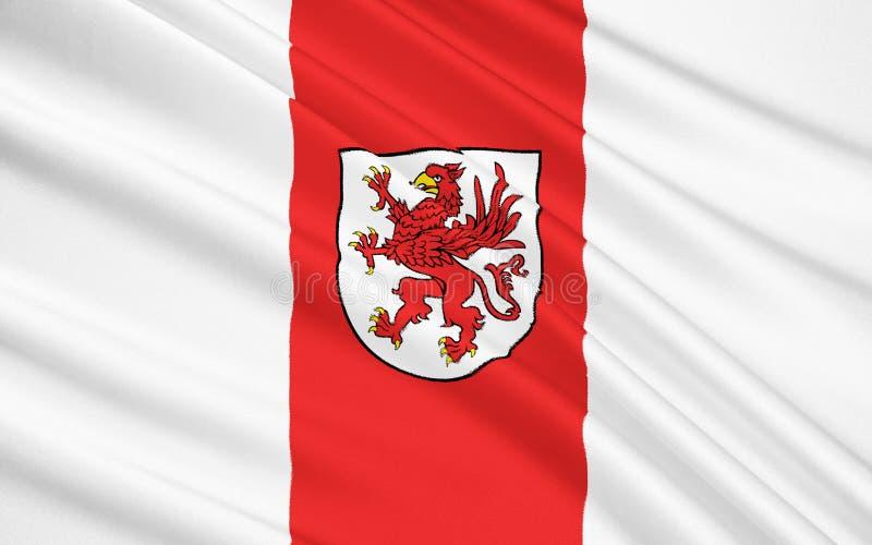 Flag of West Pomeranian Voivodeship in northwestern Poland. Flag of West Pomeranian Voivodeship or West Pomerania Province in northwestern Poland royalty free stock photo
