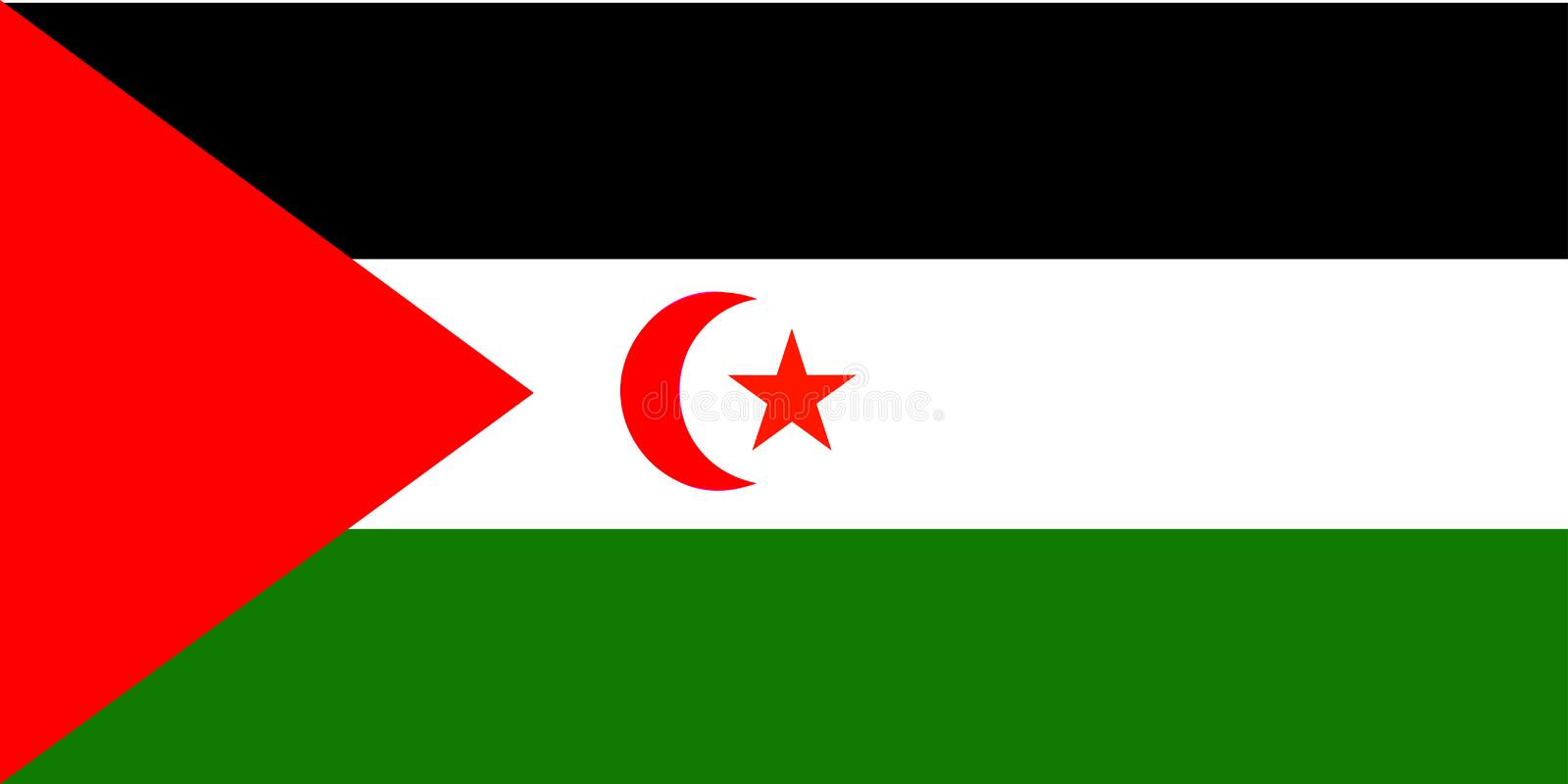 Flag of Western Sahara royalty free illustration