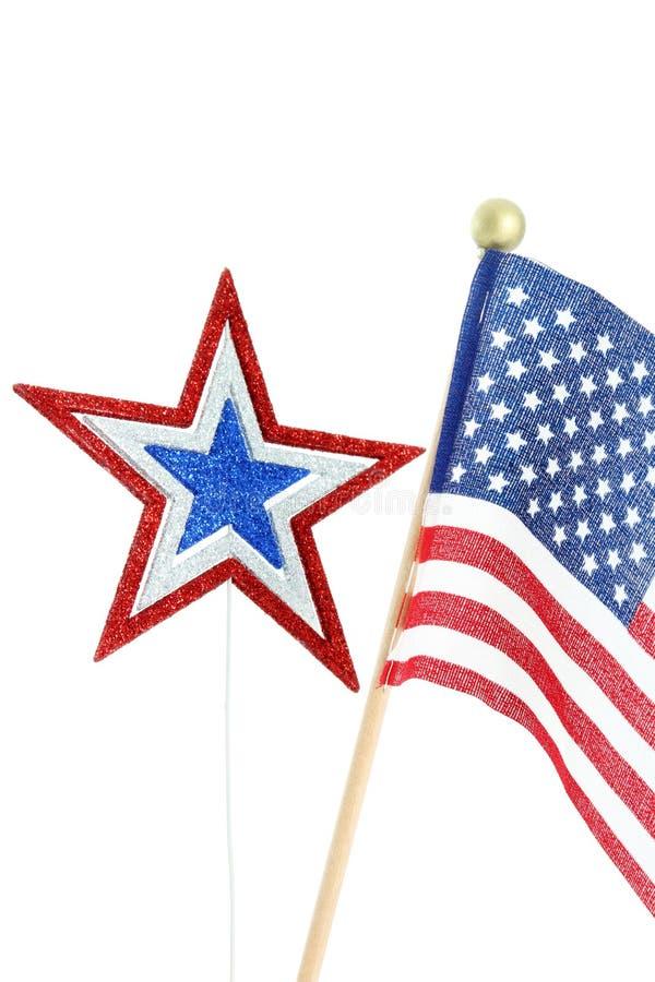 Flag on White Background stock photos