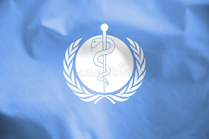 Flag of WHO. 3d Rendered Flag of WHO stock illustration