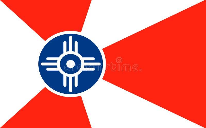 Flag of Wichita in Kansas, USA royalty free stock photo