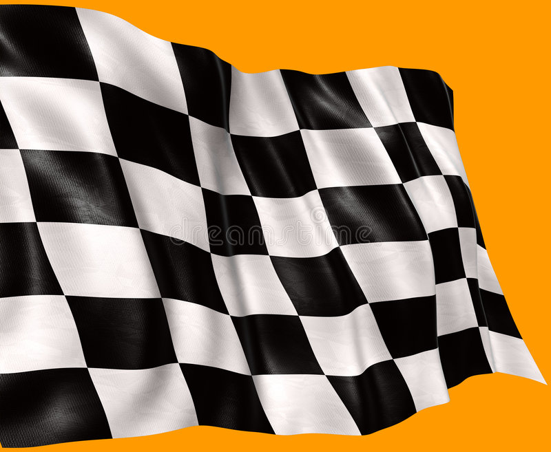 Flag in the wind 2 stock image